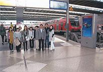 ドイツ新幹線にて