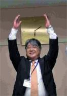副会長の閉会の挨拶と 恒例の万歳三唱